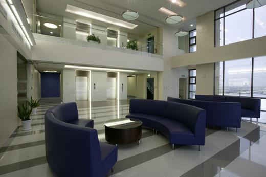 设计内容:企业总部办公室规划设计;